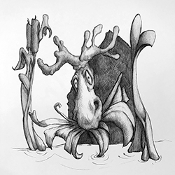 InkTober – Day 13 – Watch Out For the Moose