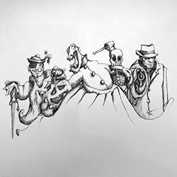 InkTober – Day 31 – Happy Hallowe'en!