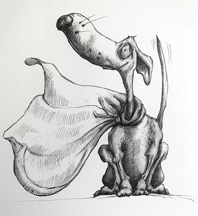 InkTober – Day 4 – Maggie the Wonder Pooch!