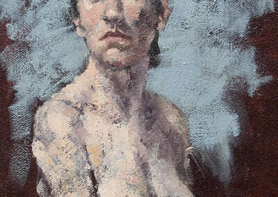 M-J Kelley's painting of Julia. Oil on canvas.