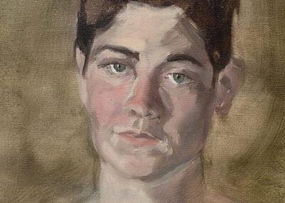 M-J Kelley's painting of Kelli. Oil on canvas.