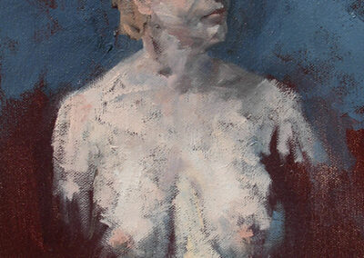 M-J Kelley's painting of Sally. Oil on canvas.